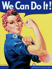 The original Rosie The Riveter poster from WWII