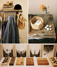 display; pipe hanger, and wood blocks for jewelry- clean, and ya know if someone's shop lifting from ya haha