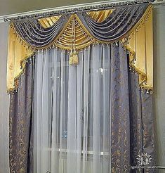 Fancy Curtains, Curtains And Draperies, Layered Curtains, Luxury Curtains, Elegant Curtains, Modern Curtains, Colorful Curtains, Hanging Curtains, Valances