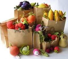 crochet fruit and vegetables | by OlinoHobby