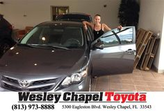https://flic.kr/p/JeVT5a | Happy Anniversary to Tara on your #Toyota #Corolla from Ross MacDonald at Wesley Chapel Toyota! | deliverymaxx.com/DealerReviews.aspx?DealerCode=NHPF