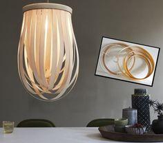 Подвесной светильник из бумаги