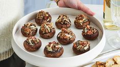 You'll love these tasty cheese-stuffed mushrooms with with a kick of jalapeno bacon - a bite-size appetizer that pops with flavour! Cheese Stuffed Mushrooms, Stuffed Mushroom Caps, Bacon Mushroom, Stuffed Jalapenos With Bacon, Jalapeno Bacon, Bite Size Appetizers, Great Appetizers, Fresh Strawberry Pie, Gruyere Cheese