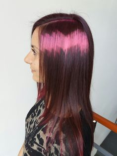 Pixelated haircolor by Penny Voudouri.   Inspiration:  x-presion creativo #pixelhair #creativecolor