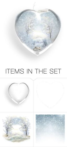 """Winter Snow Globe - 01.2018"" by louvillia ❤ liked on Polyvore featuring art"