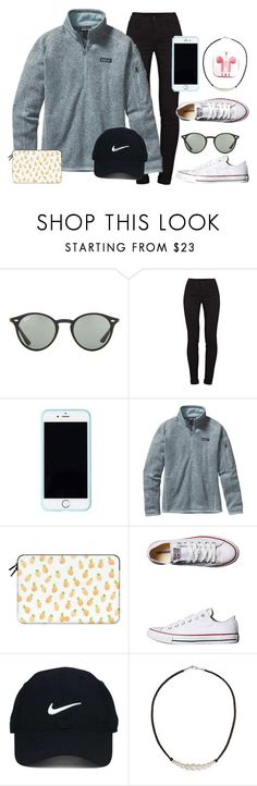 """""""cold summer nights"""" by ecarri on Polyvore featuring Ray-Ban, J Brand, Lilly Pulitzer, Patagonia, Casetify, Converse, Nike Golf, NOVICA and PhunkeeTree"""
