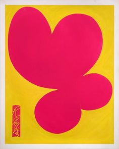 Pink Form on Yellow Painting by Ralph Paquin Original Artwork, Original Paintings, Acrylic Spray Paint, Yellow Painting, Online Art, Amazing Art, Buy Art, Paper Art, Saatchi Art