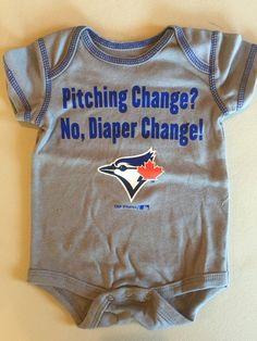 "MLB Toronto Blue Jays ""Diaper Change"" Infant Onesie by Genuine Merchandise  www.mancavesonline.com"