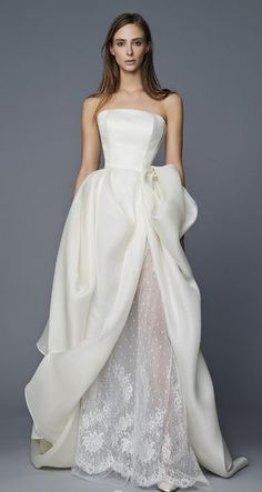 Featured Dress: Antonio Riva; Wedding dress idea.