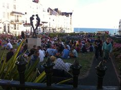 One if the smaller gathering in Kemp Town, Brighton Pride 2013