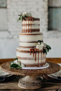 100 Pretty Wedding party Cakes To Inspire You - rustic wedding cake suggestions, moody wedding ceremony cake , naked wedding party cake weddingcake cake rusticweddingcake weddingcakes nakedweddingcake Naked Wedding Cake, Pretty Wedding Cakes, Country Wedding Cakes, Wedding Cake Roses, Themed Wedding Cakes, Fall Wedding Cakes, Wedding Cake Rustic, Rustic Cake, Wedding Cake Designs