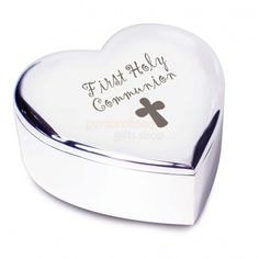 First Holy Communion Heart Trinket  from Personalised Gifts Shop - ONLY £10.95