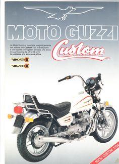 Moto Guzzi factory brochure: V35C - V50C