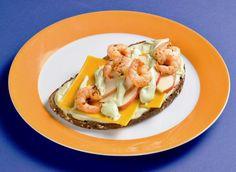 Garnelen-Brote mit Avocado-Dip