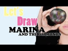 Let's Draw: Marina and the Diamonds #MarinaAndTheDiamonds #Art #Draw #Music #Inspiration