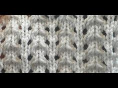 Knit Pattern * VERY EASY LACE STITCH * - YouTube