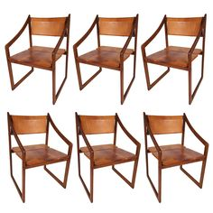 Gerarld McCabe Set of Six 2503 Dining Chairs for Erin Furniture ca1982