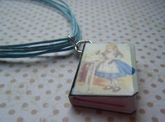 ALICE IN WONDERLAND multi-strand blue necklace £8.00