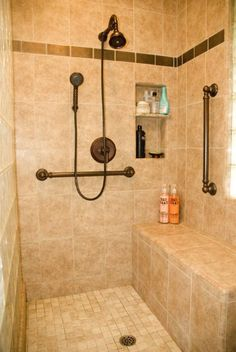 Residential Handicap Bathroom Layouts | Universal Design Bathrooms
