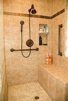 Residential Handicap Bathroom Layouts | Universal Design Bathrooms