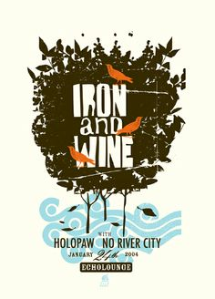 Design by Methane Studios / GigPosters.com - Holopaw - Iron And Wine - No River City