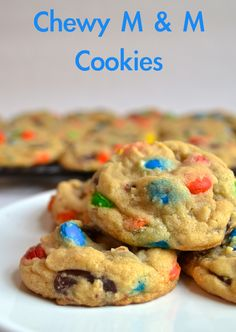 Chewy M & M Cookies   Pale Yellow