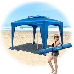 EasyGo Cabana -Beach & Sports Cabana keeps you Cool and Comfortable. Easy Set-up and Take Down. Large Shade Area. More Elegant & Classier than Beach Umbrella - Patent - This revolutionary new cabana i