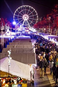 Place Sainte-Catherine, Brussels. Get into the festive mood with a visit to one of the many Christmas markets in Europe! Click to find out more. Photo credit: visitbrussels.be
