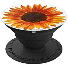 Sunflower Pop Socket Popsockets Grip And Stand For Phones And Tablets Popsockets Diy Pop Socket Cute Popsockets