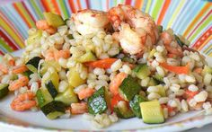 Pan-fried Ebly Wheat with Courgettes and Shrimps WW - Principal Course and Recipe - Weight watcher et autres recettes allégées - Coffee Recipes Coffee Drink Recipes, Dinner Entrees, Party Entrees, Batch Cooking, Healthy Dinner Recipes, Food Videos, Main Dishes, Meals, Ethnic Recipes