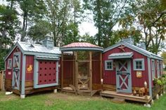 Crafty Farmgirl's gorgeous chicken/goat house.... Would adapt this idea for guest suites with a screened porch