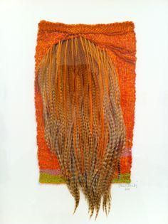 Sheila Hicks orange feathers