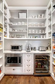 By Kerrie Kelly, Zillow Food pantries can take just about any form. Hutches, armoires and even open shelving also work well. Source: Zillow Digs Clean it Similar to a refrigerator, the first step to seeing what you have to work with is emptying it out and giving it a good overall cleaning. If not, simply