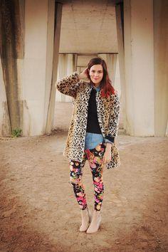 leopard, floral