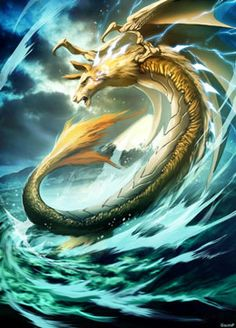 Amaru- inca myth: a serpent or dragon that the head of a llama, fox's mouth, condor wings, snakes body, and fish tail. it dwells underground and It can trespass the spiritual realm. Mythological Creatures, Fantasy Creatures, Mythical Creatures, Sea Creatures, Dragon Horse, Dragon Art, Myth Stories, Legends And Myths, Celtic Mythology