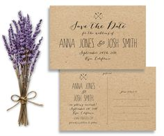 Rustic Printable Save the Date Postcard by SimplyFetchingPaper