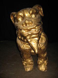 Gold Asian Foo Dog