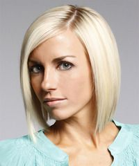 A simple classic bob. This is the new alternative to the angled bob.