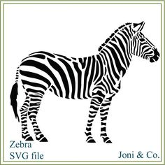 Zebra Stencil: Click through to buy this gorgeous home decor and crafting stencil from The Artful Stencil! US Shipping in only 5 days. We ship all over the world.