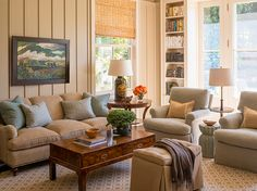 Family room at Greenwich House by Phoebe Howard