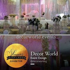 @decorworldng will be at #sugarrushlagos The most prestigious wedding fair of the year. The Date is this Sunday 10th of July Venue: 52A Kofo Abayomi Street Victoria Island Lagos. #sugarrushlagos #picoftheday