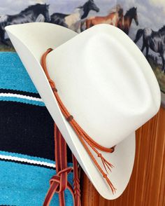 Western Cowboy Kangaroo Leather Braid Hat Band Saddle by rafterjc, $60.00