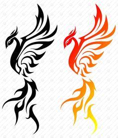 Shapes eps phoenix abstract art