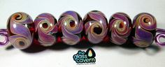 Handmade Borosilicate Red Swirl Glass Beads by TheGlassCavern on Etsy