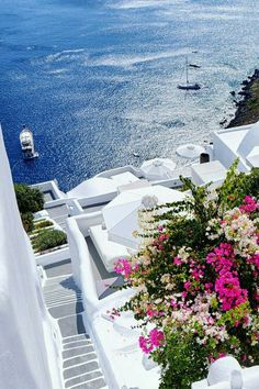 Since I'm in Santorini, I consider the island to be one of the most beautiful places in the world. Vacation Places, Dream Vacations, Vacation Spots, Vacation Rentals, Romantic Vacations, Italy Vacation, Vacation Villas, Romantic Travel, Beautiful Places To Travel