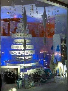 Holiday window display at the Paley Center for Media