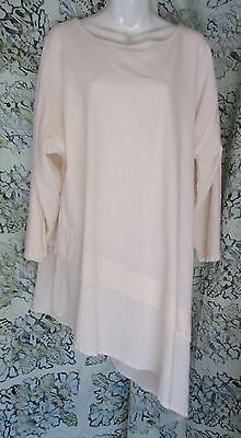 Cottonseed-ivory-cotton-asymmetrical-quirky-tunic-M-L-49B