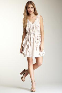 $32.00 - Big Ruffle Front Short Dress by Easy Breezy Dresses on @HauteLook