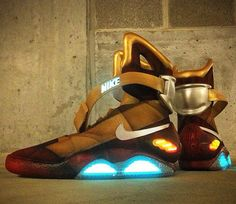 Customized 'Iron Man' Nike Mags! [Pics] I need these in my life!