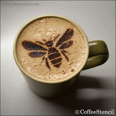 Bee coffee stencil.